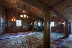 木鞑靼人的清真寺内部在Kruszyniany,波兰 免版税库存照片