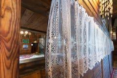 木鞑靼人的清真寺内部在Kruszyniany,波兰 免版税库存图片