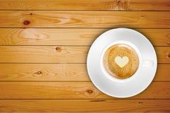木顶面咖啡 库存图片