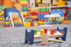 木颜色玩具 免版税库存图片