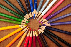 木颜色的循环 免版税图库摄影