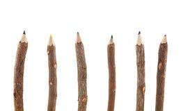 木颜色铅笔 免版税图库摄影