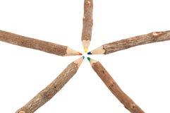 木颜色铅笔 免版税库存图片