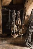 木风船滑轮 库存照片