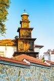 木高耸在普罗夫迪夫市,保加利亚 免版税库存图片