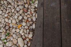 木头和石头的纹理 免版税库存图片