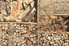 木头和秸杆 库存照片