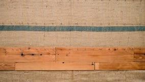 木头和织品背景样式 免版税图库摄影