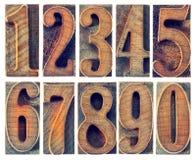 木类型被隔绝的数字 库存图片