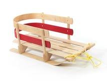 木婴孩的雪橇 免版税库存照片