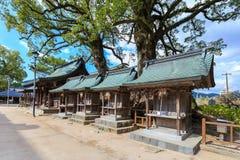 木头寺庙在Dazaifu Tenmangu地区 免版税图库摄影