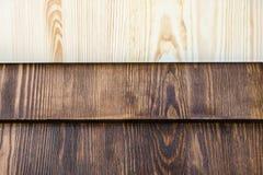 木头水平的板在三种颜色的 库存照片