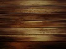 木水平的板条背景 现实黑暗的木纹理 向量例证