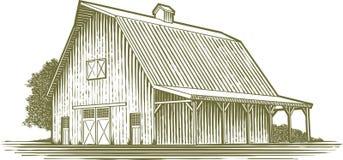 木刻庭院 向量例证