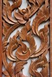 木刻泰国 库存照片