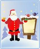 木头的圣诞老人 库存照片