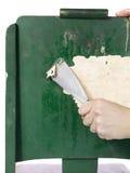 从木头的小条油漆 免版税库存照片