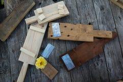 从木头的手工 免版税库存图片