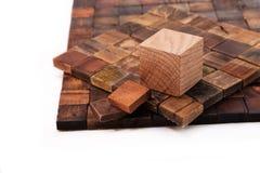 木头的装饰在白色背景的 免版税图库摄影