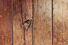 木头的褐色接近的纹理 背景老面板 免版税图库摄影