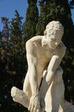 木破碎机大理石象-雅典国民庭院 库存图片