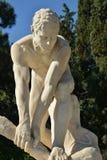 木破碎机大理石象-雅典国民庭院 免版税库存图片