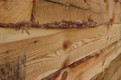木建筑房子老零件墙壁的木头 免版税库存图片