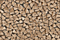 木头纹理在柴堆的 库存图片