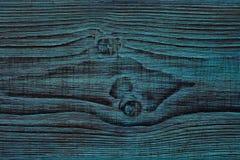 结木头 背景,美丽的木头,人工老化,被绘的蓝色纹理  图库摄影