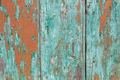 木绿色被绘的篱芭 图库摄影