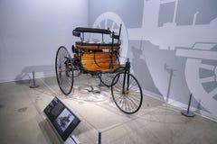 木头1886苯专利Motorwagen 库存图片