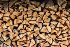木头被排行烘干 库存图片