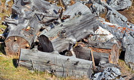 木头裁减 库存图片