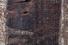 木头年迈的被风化的概略的五谷表面纹理 图库摄影