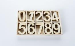 从木头零编号数字 免版税库存照片