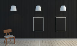木黑颜色墙壁背景 库存照片