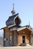 木17世纪的教会 库存图片