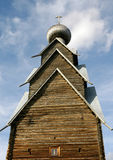 木17个世纪的教会 免版税库存照片