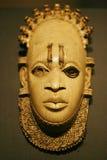 木2个非洲人的雕塑 免版税库存照片