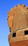 木2匹马的troia 免版税库存照片