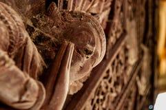 木Apsara细节 免版税库存图片