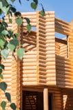 木bilding从木材 免版税库存图片