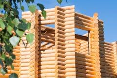 木bilding从木材 库存照片
