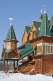 木kolomenskoe的宫殿 免版税库存图片