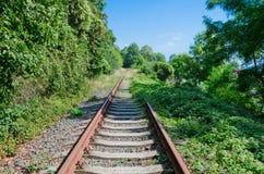 未使用的铁路轨道 免版税库存图片