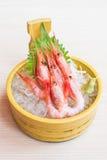 未加工和新鲜的虾生鱼片 免版税库存照片