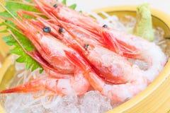 未加工和新鲜的虾生鱼片 库存图片