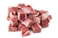 未加工炖牛肉的肉 免版税库存照片