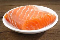 未加工的三文鱼肉 免版税图库摄影