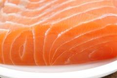 未加工的三文鱼肉 免版税库存照片